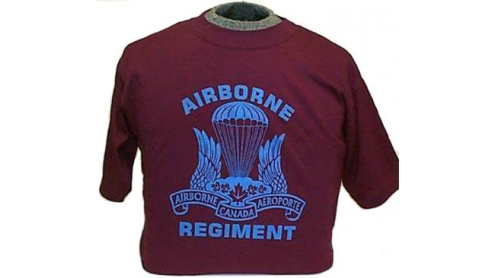 Airborne Regiment's T-shirt with small imperfection