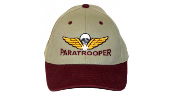 Paratrooper Baseball Hat-White Maple Leaf