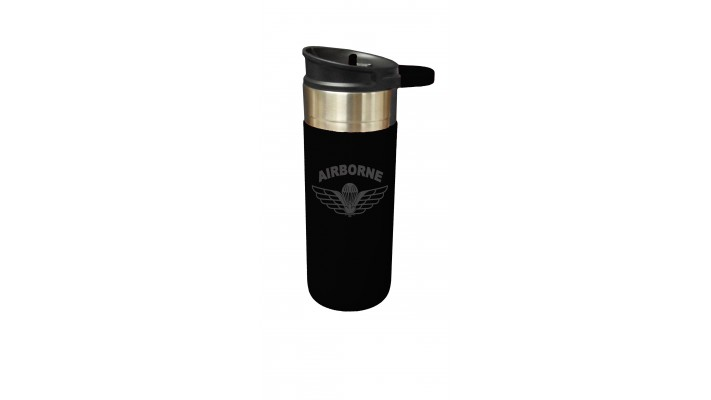 18 Oz Waterproof Cup with airborne ''Parawing'' logo