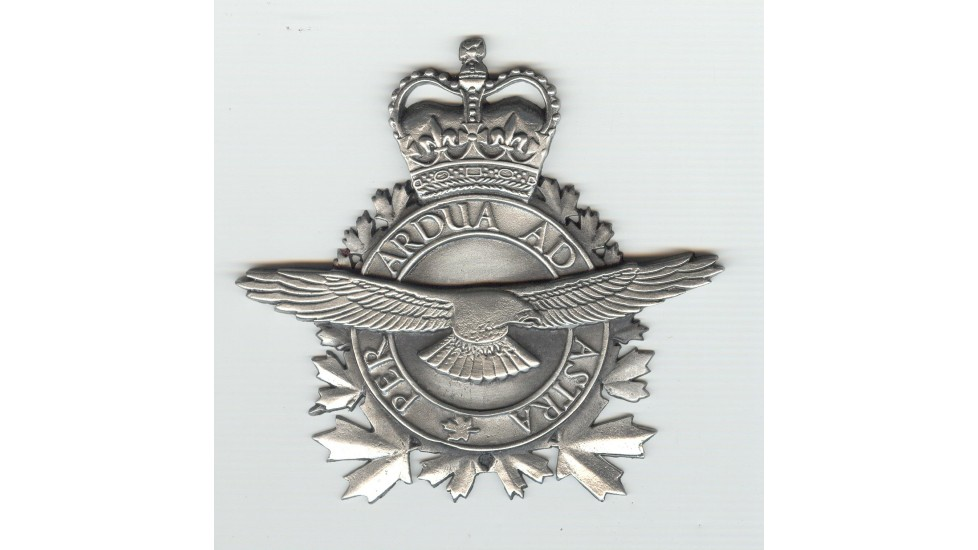 Logo en étain de l'Aviation Royale du Canada