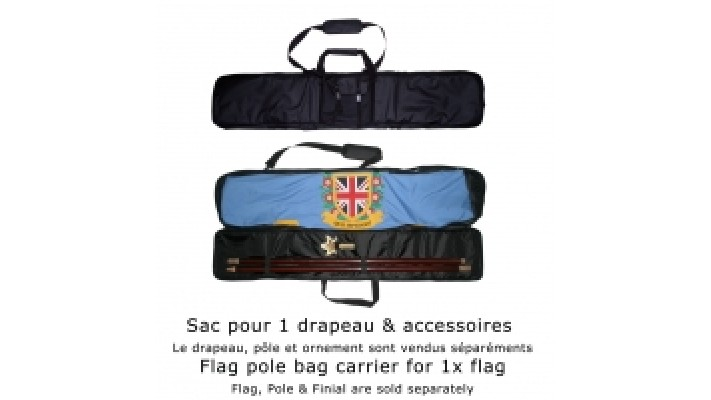 Flag pole bag carrier for 1 flag