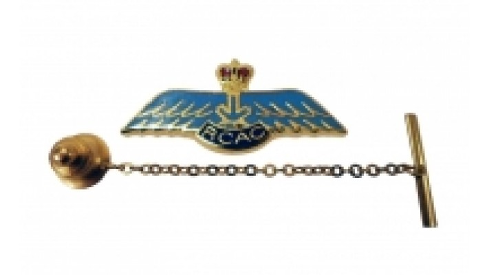 Air Cadets Blue Wings tie pin with chain