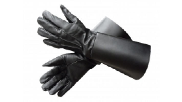 Long Black Gauntlets Drummer Gloves