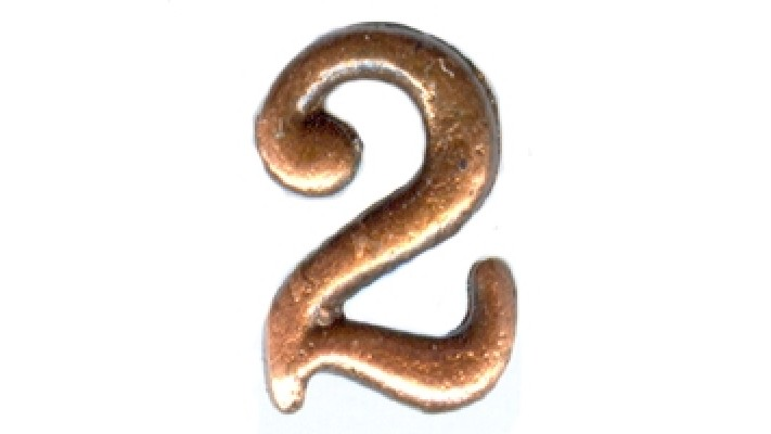 Brass numerals for NATO ribbons