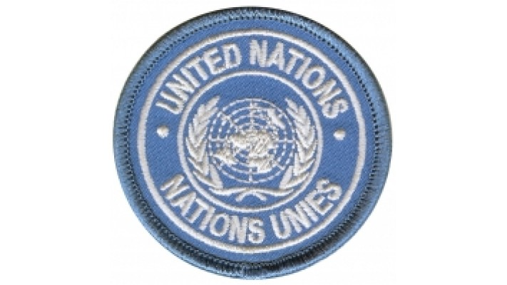 BILINGUAL Small Cloth UN Shoulder patch