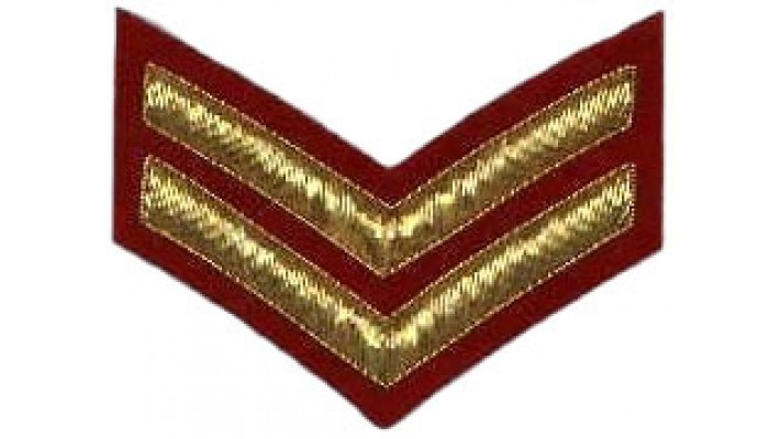 Corporal Rank- Red Backing