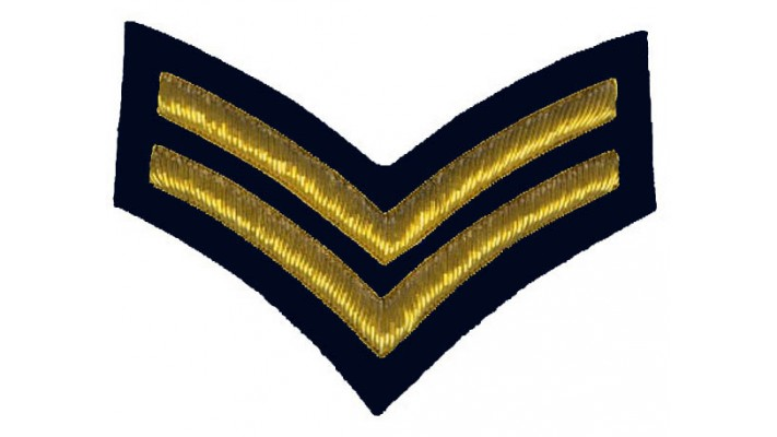 Corporal Rank- Midnight Blue Backing
