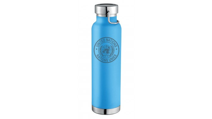 Bottle of Water (22 OZ) with the United Nations logo
