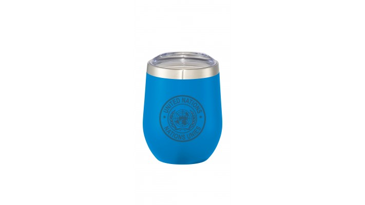 12 oz mug with the United Nations logo